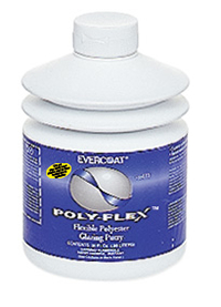 A flexible polyester glazing putty designed for spot filling and skim coating over repair areas on flexible bumpers and plastic parts.