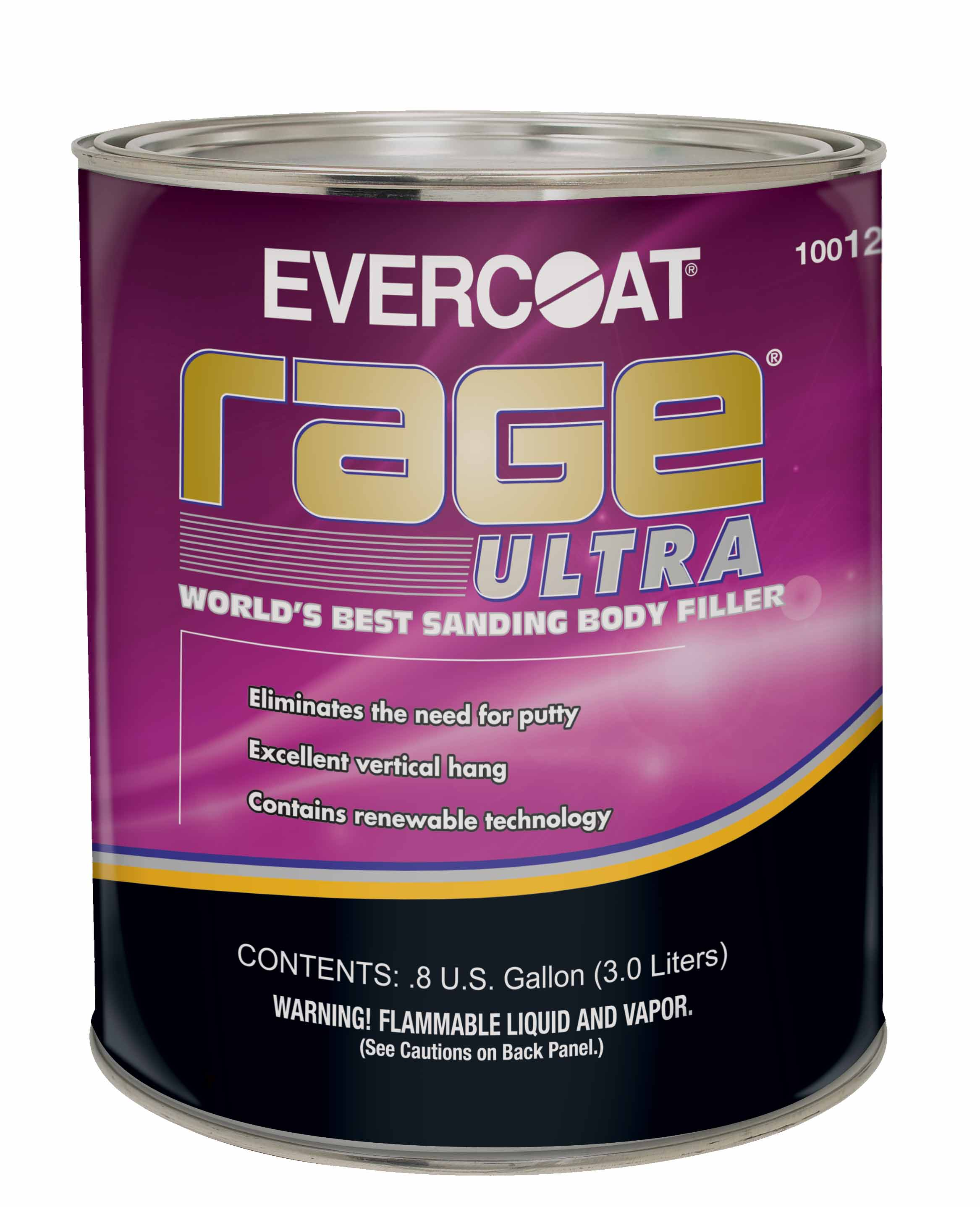 Rage® Ultra is the world's best sanding body filler. Its non-sag formula has excellent filling properties, while eliminating the need for finishing putty.